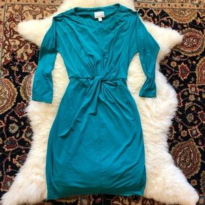 Donna Morgan Knot Front Aqua Dress US 2